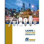 Topaz Lamps & Lighting Products catalog cover