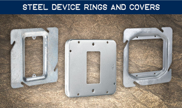 Steel Device Rings and Covers