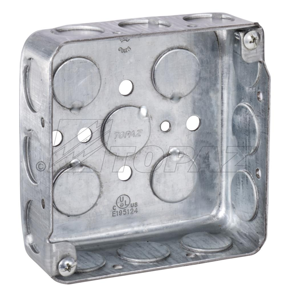 Box Industrial Plastic Waterproof Electrical Junction Steel Boxes Covers Accessories 4 Square Drawn 1 2 Deep Ko