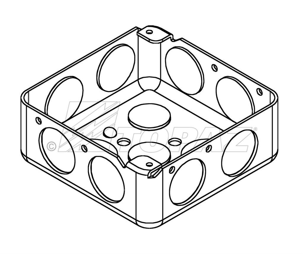 4 u0026quot  square drawn boxes steel 1 2 u0026quot  deep 3  4 u0026quot  ko
