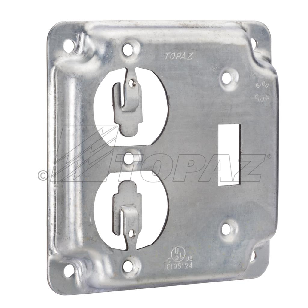 4 Quot Square Industrial Surface Covers 1 Toggle 1 Duplex