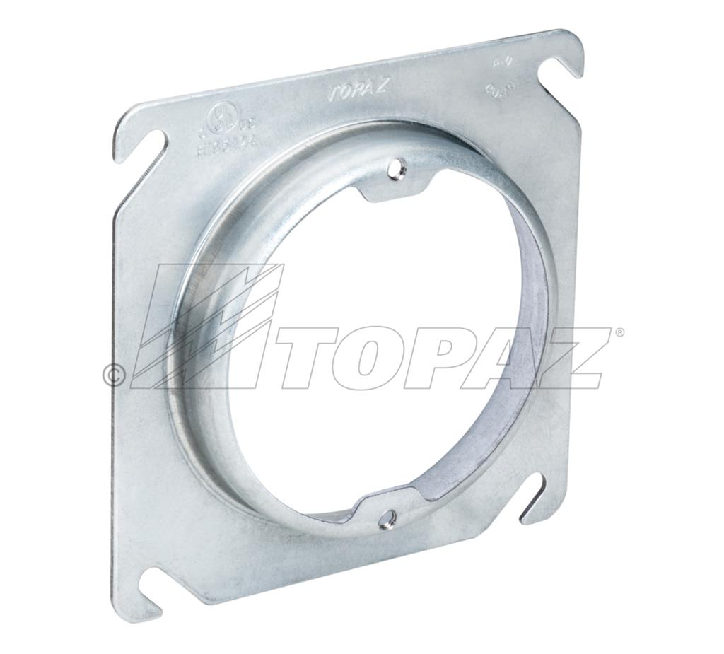 4 Quot Square To Round Raised 1 2 Quot Ears 2 3 4 Quot Oc Device Rings