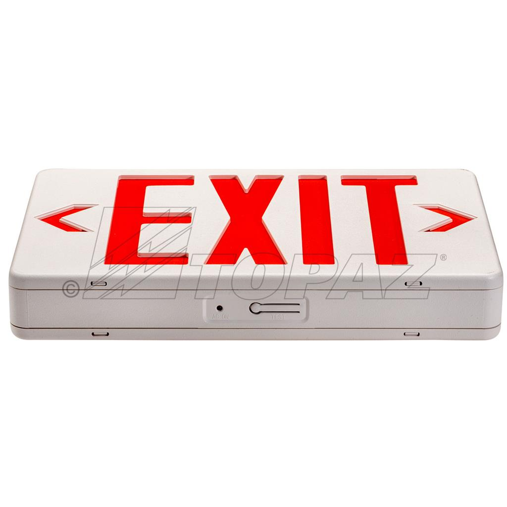 Compact Led Red Exit Sign With 90min Of Battery Backup