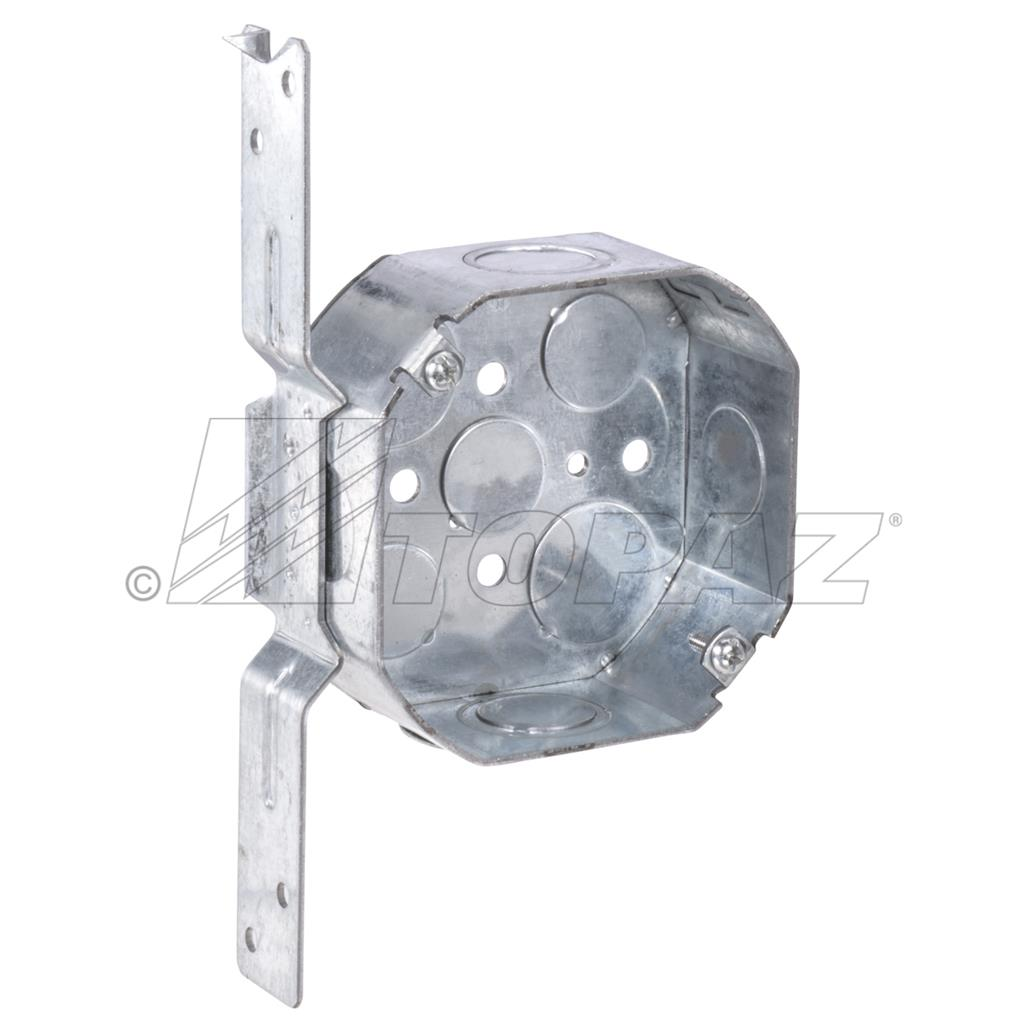 4 Quot Octagon Drawn Boxes Amp Extensions With Fl Bracket 1 2