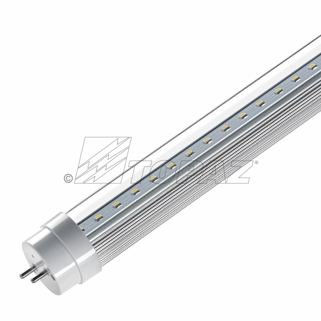 Led Linear T8 Ballast Bypass 48 4000k Clear Topaz Wiring Diagram Polycarbonate
