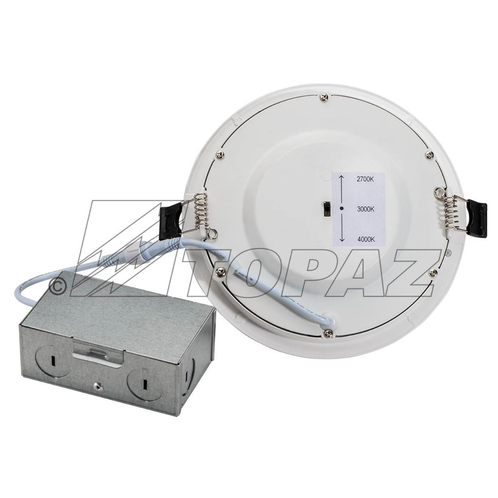 "6"" high lumen cct LED color selectable slim downlight"