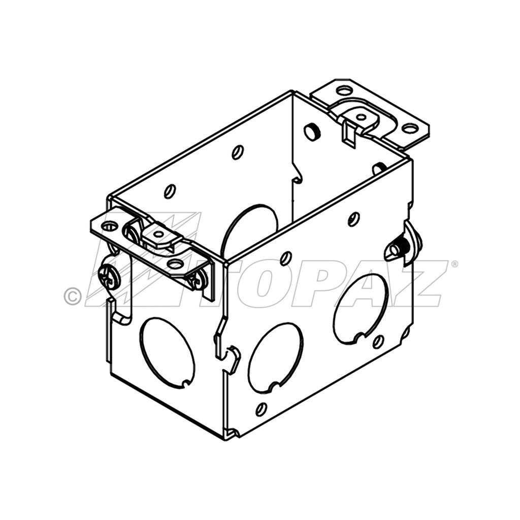 3 u0026quot x2 u0026quot  gangable switch boxes 2 2 u0026quot  deep 1  2 u0026quot  ko