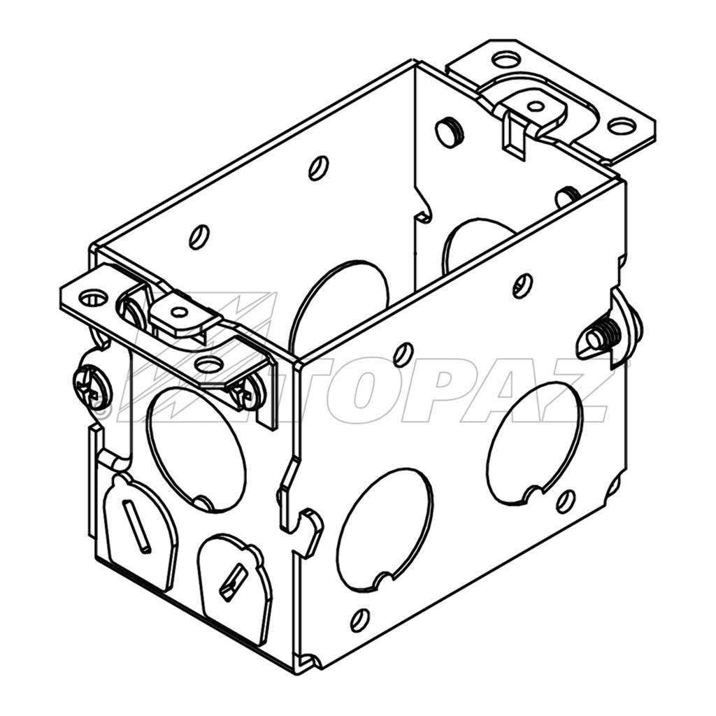 3 u0026quot x2 u0026quot  gangable switch boxes 2 2 u0026quot  deep 1  2 u0026quot  ko with nm clamps