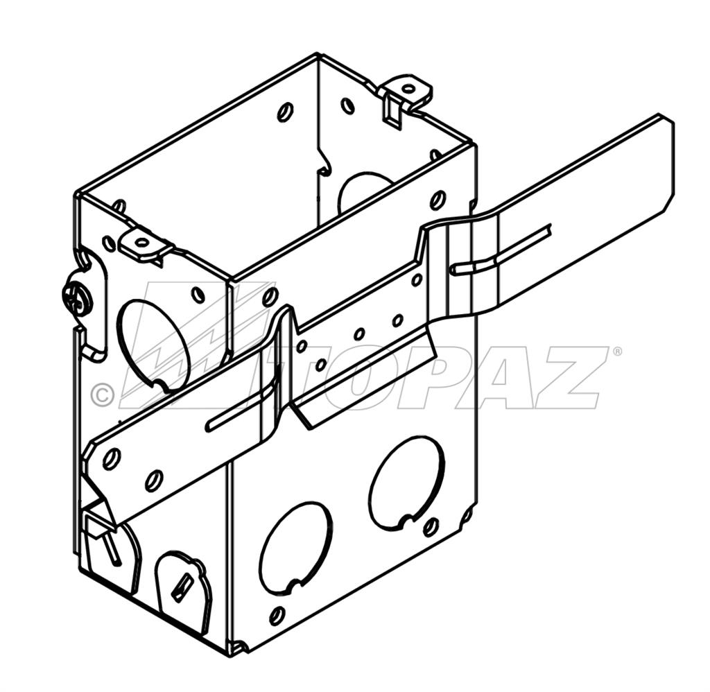 3 u0026quot  x 2 u0026quot  gangable switch boxes 3 2 u0026quot  deep with mc clamps