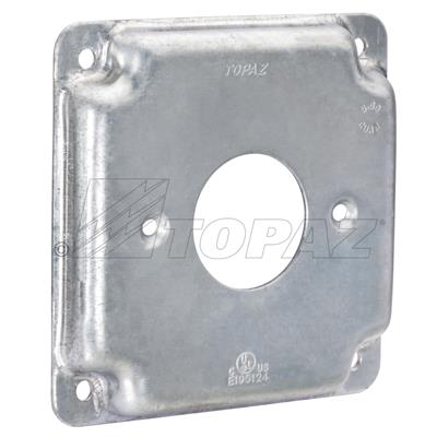 """1 Single Receptacle Gray 1 pc 4/"""" Square Electrical Box Cover 1 Toggle Switch"""