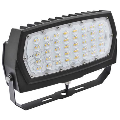 70w Medium Low Profile Flood Light With Bronze Trunnion Mount