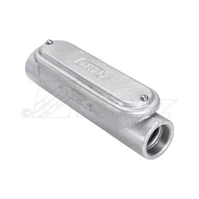 "New 1/"" LR Threaded Aluminum Condulet Conduit Body w Gasket /& Cover"