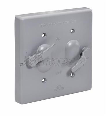 Weatherproof Waterproof 2 Gang Light Switch Twin Wall Outdoor